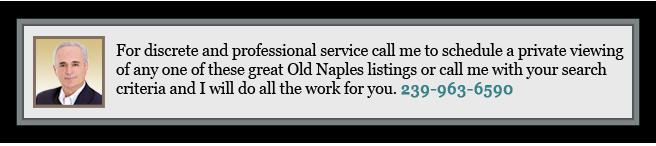 Old Naples Real Estate