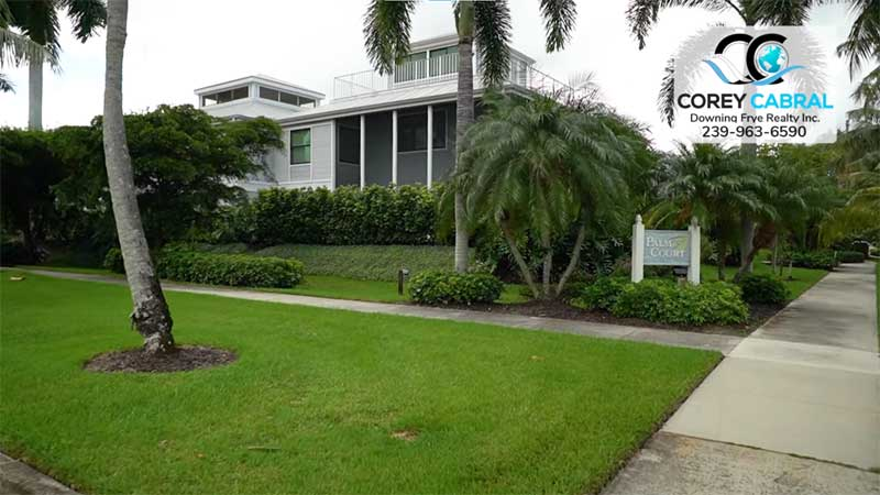 Palm Court Condo Real Estate in Old Naples, Florida